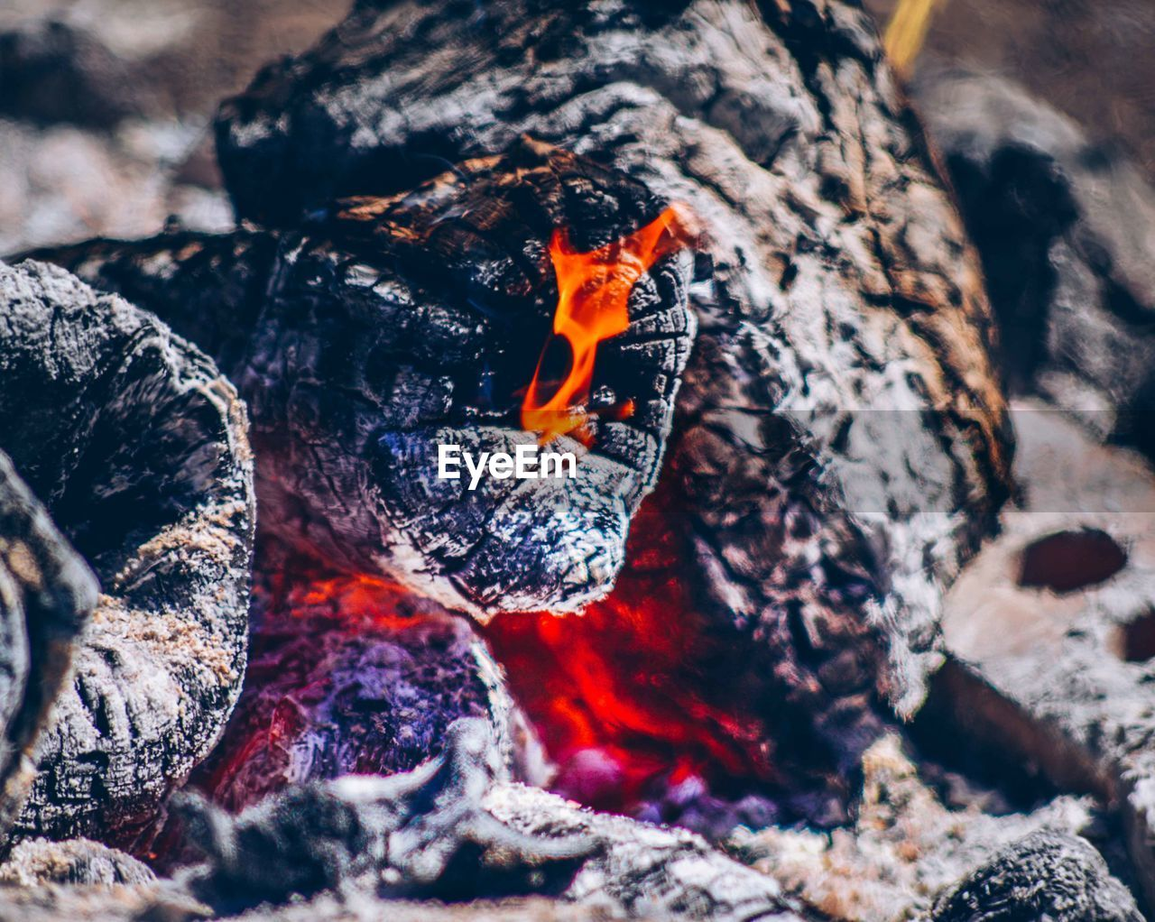 Close-Up Of Campfire