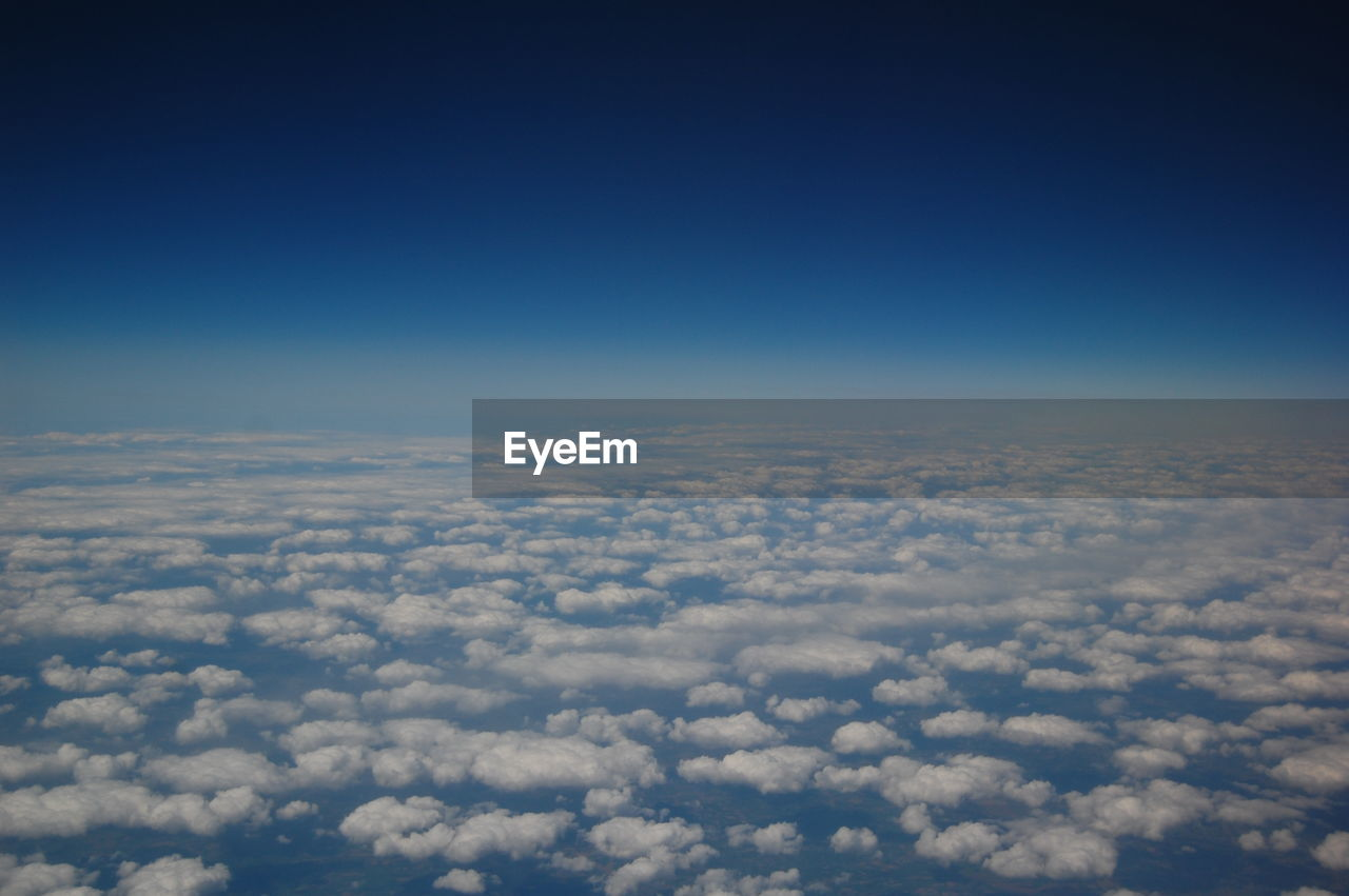 Infinite view from an airplane