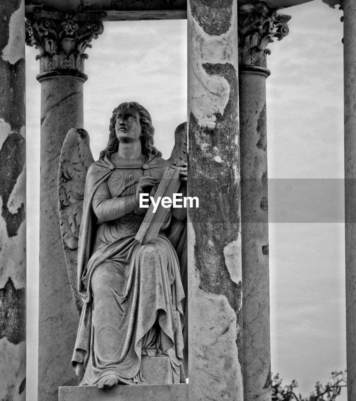 Angel Statue At Graveyard