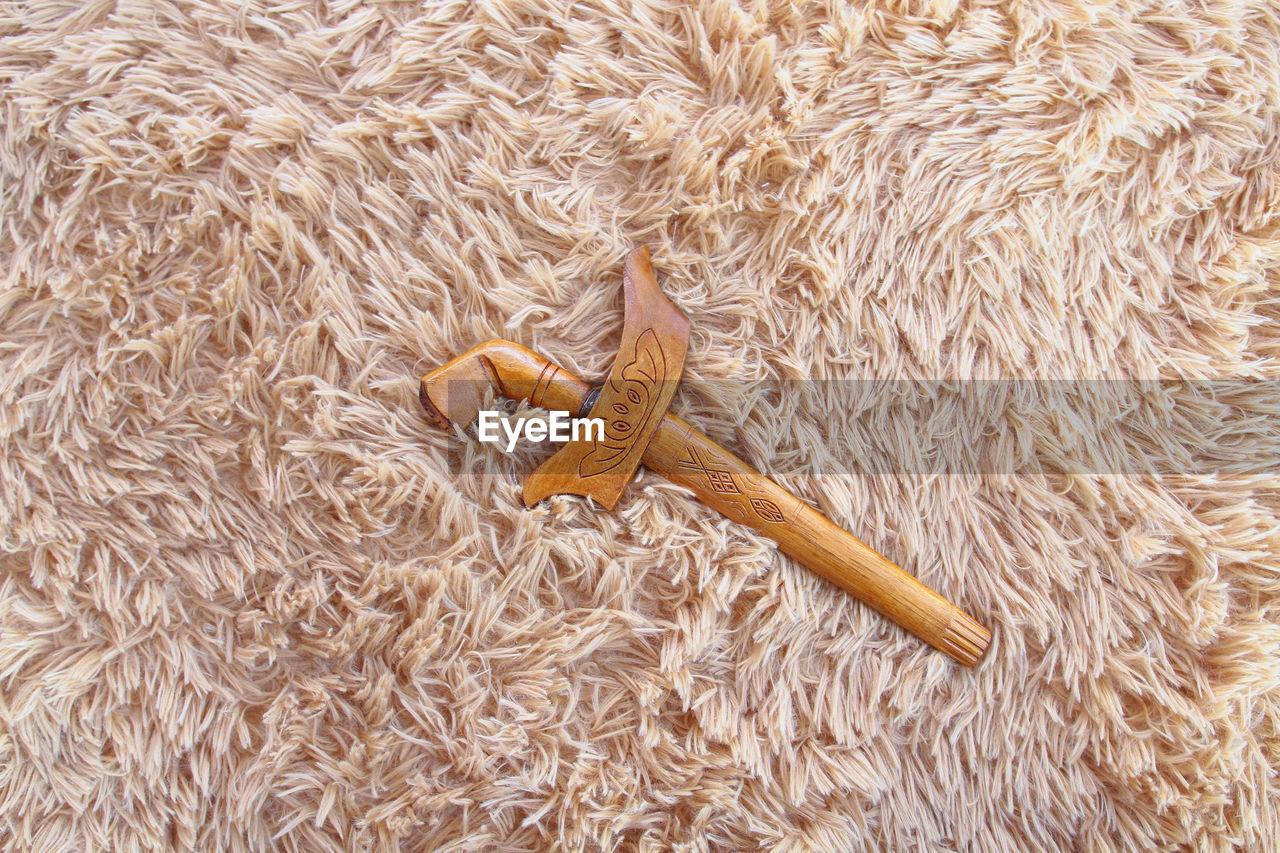 animal, animal themes, one animal, no people, high angle view, vertebrate, indoors, day, animal wildlife, rug, animals in the wild, toy, fur, directly above, textile, close-up, nature, animal body part, animal representation, invertebrate