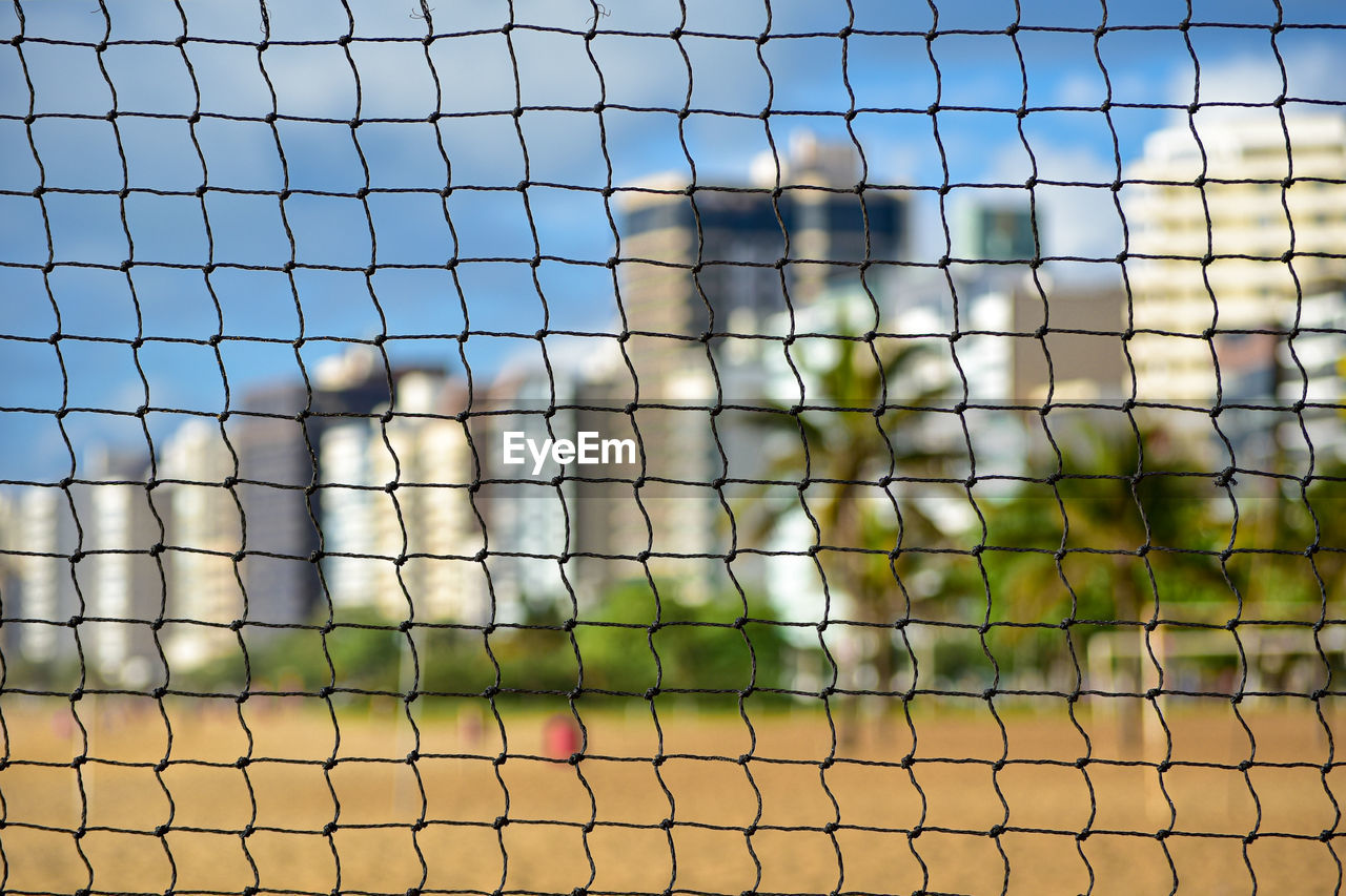 no people, focus on foreground, fence, boundary, barrier, net - sports equipment, nature, day, sport, sky, close-up, security, animal, metal, protection, animal wildlife, animal themes, green color, pattern, safety