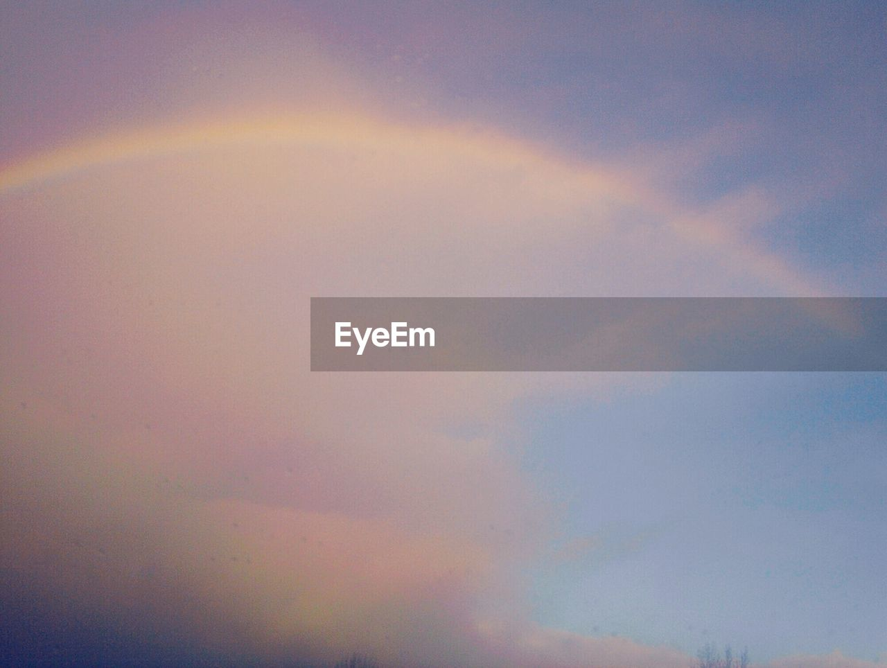 multi colored, beauty in nature, nature, scenics, cloud - sky, sky, tranquility, outdoors, low angle view, rainbow, tranquil scene, no people, sunset, day