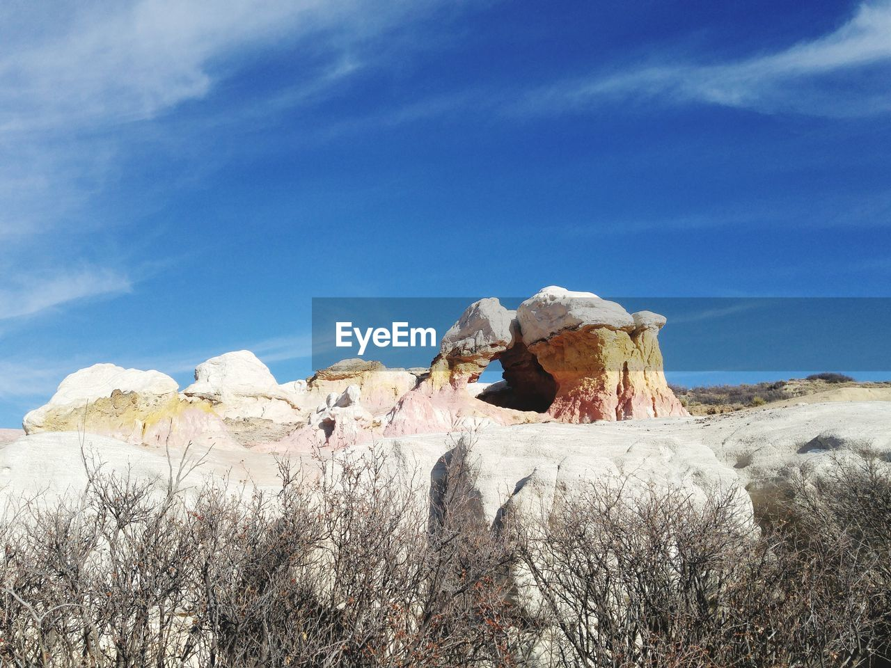 Panoramic View Of Rock Formations Against Sky