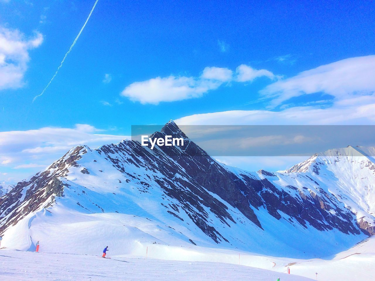 winter, mountain, snow, sky, cold temperature, scenics - nature, cloud - sky, beauty in nature, tranquil scene, snowcapped mountain, tranquility, mountain range, environment, non-urban scene, white color, nature, day, blue, landscape, outdoors, mountain peak