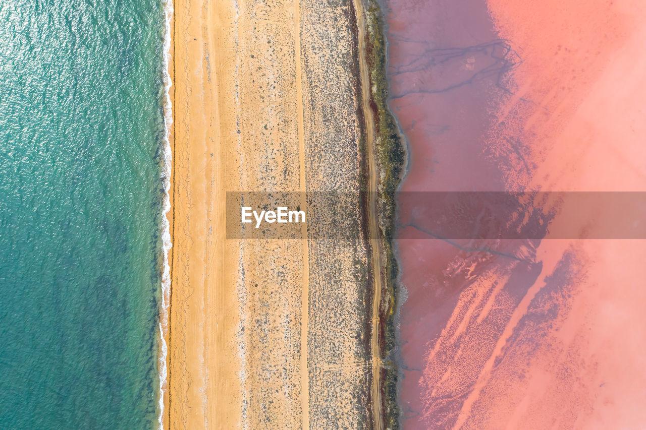 FULL FRAME SHOT OF SAND ON BEACH