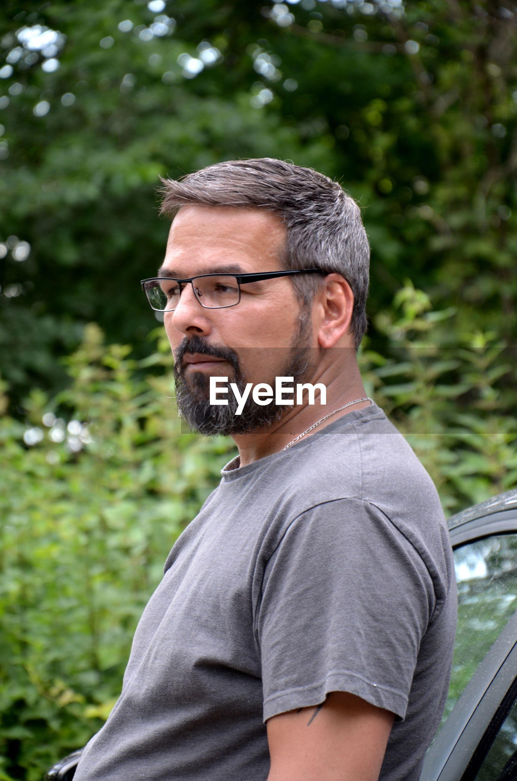 Mature man looking away