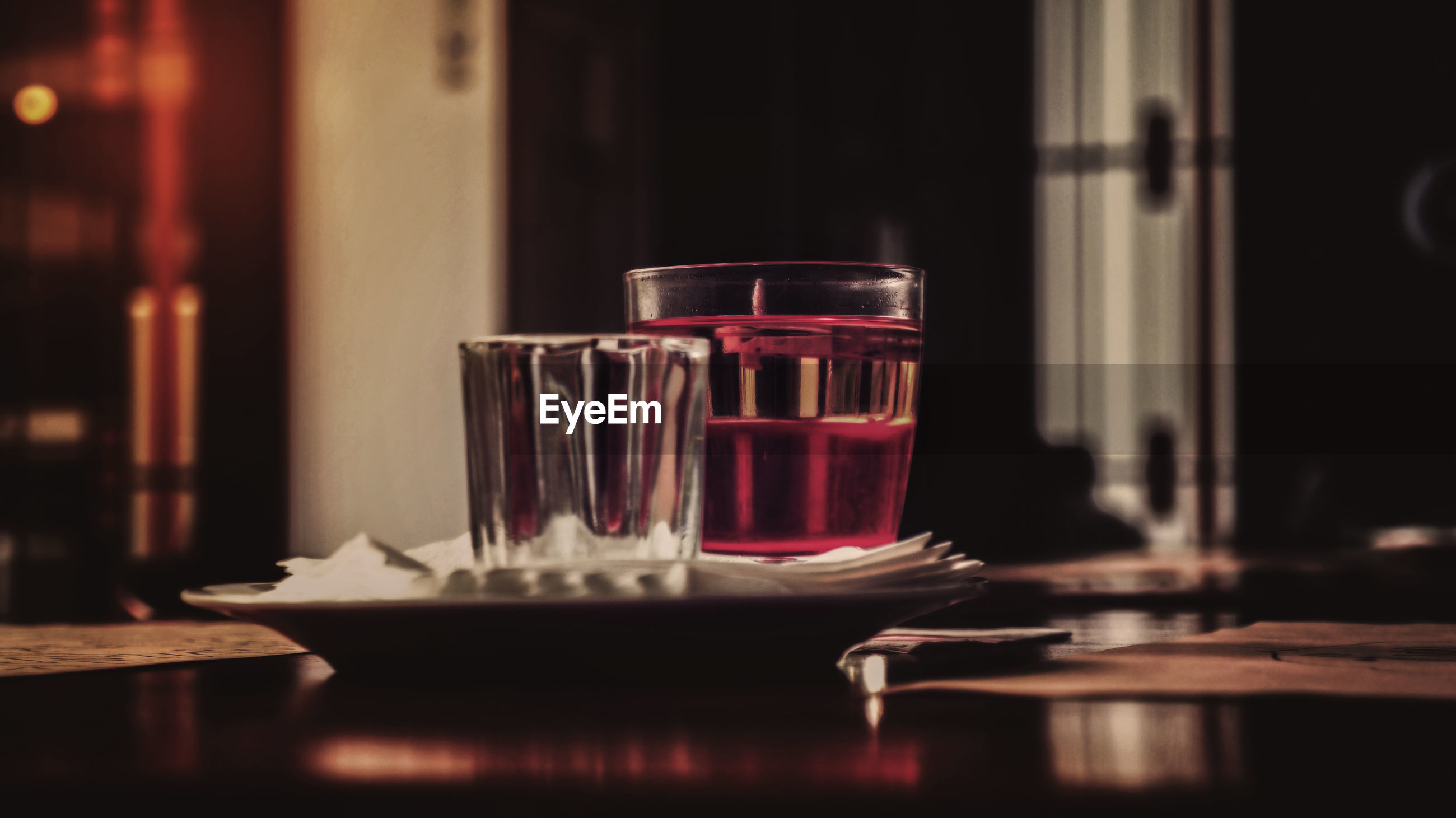 Drink served on table