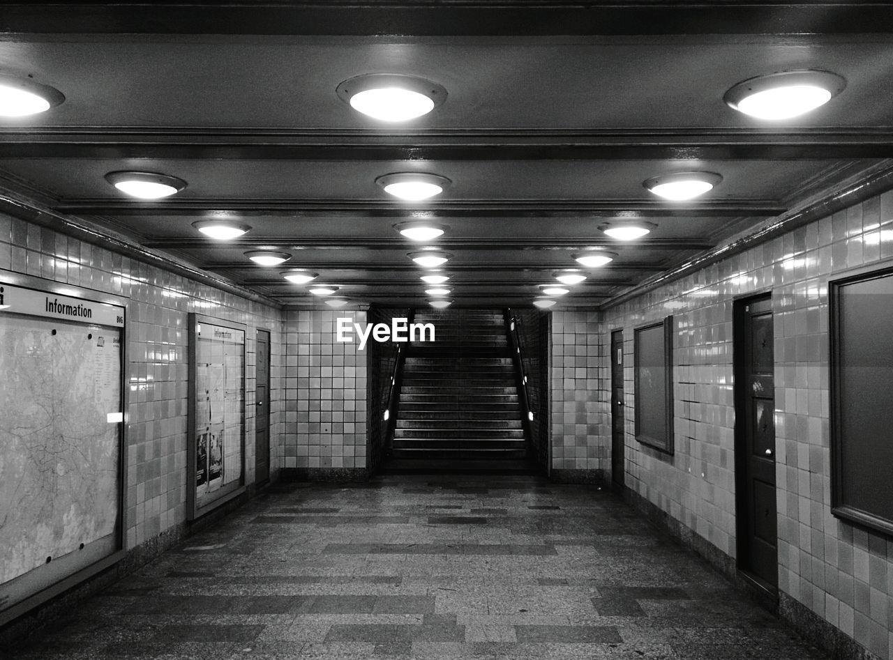 Interior Of Illuminated Walkway