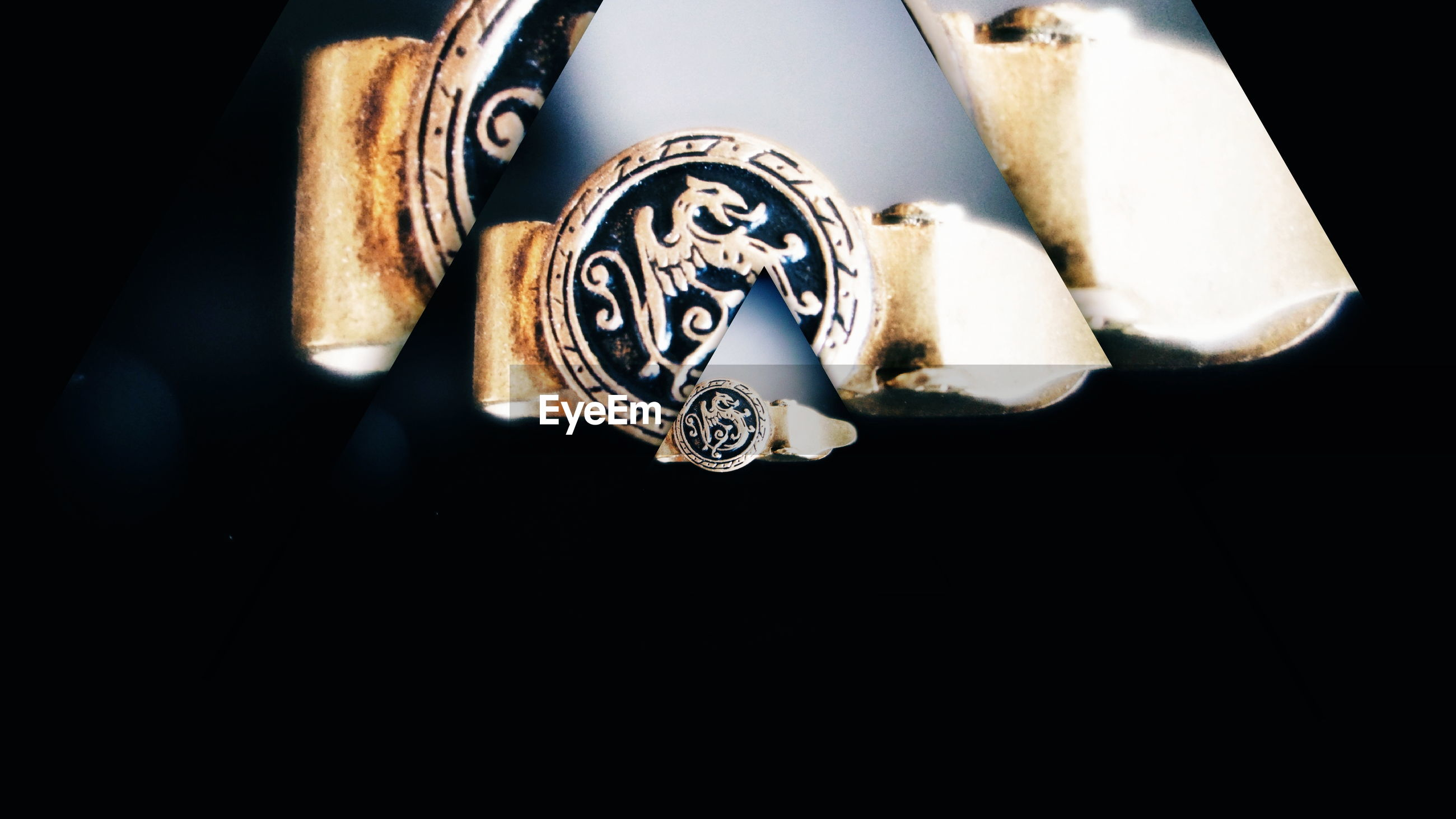 jewelry, luxury, wealth, close-up, precious gem, fashion, diamond ring, no people, black background, gold colored, studio shot, indoors, day