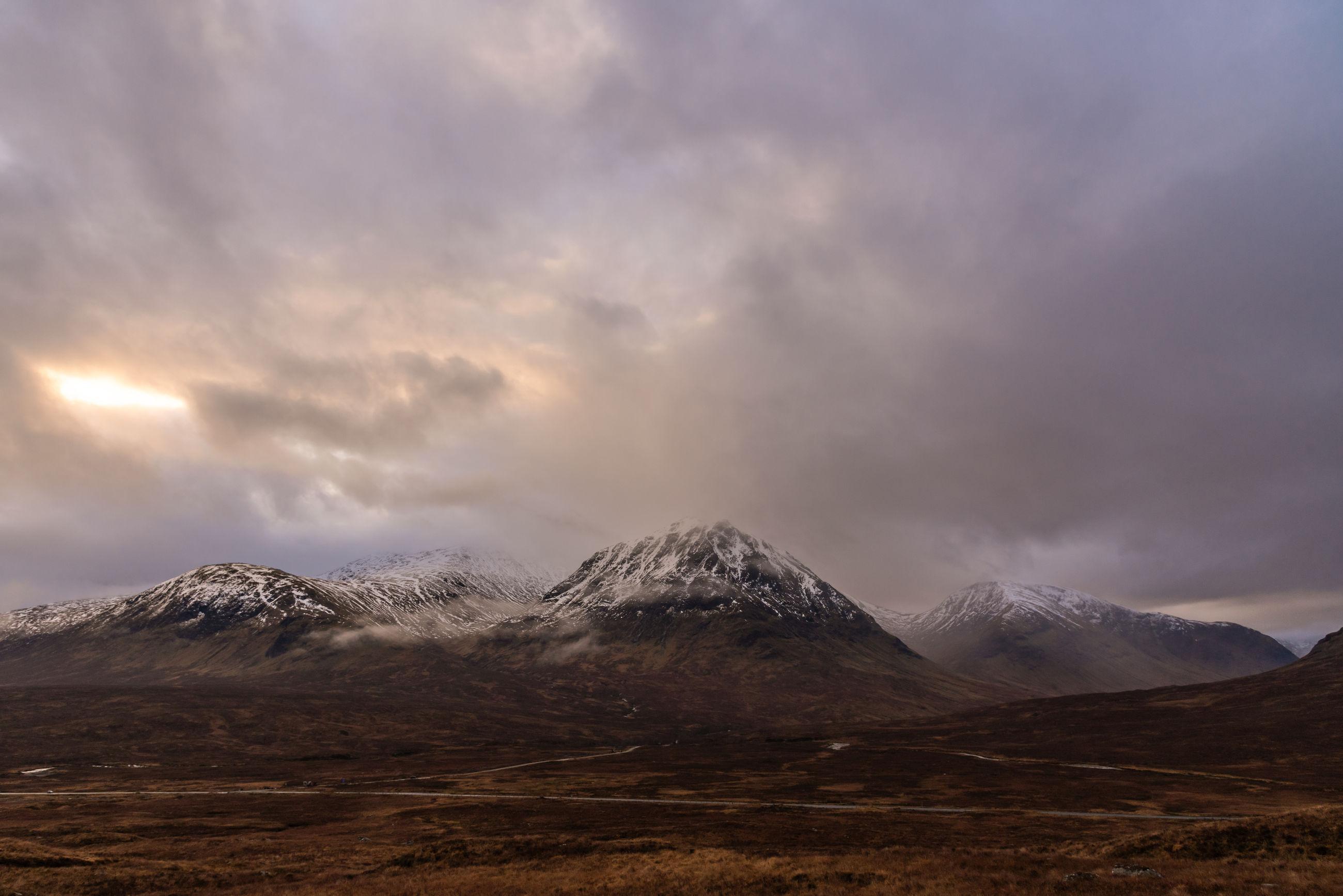 West highlands way - hiking in scotland, winter