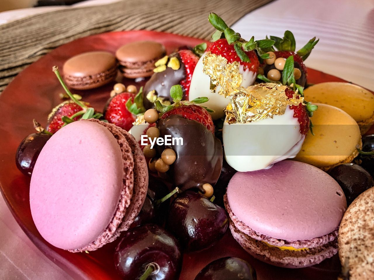 food and drink, food, freshness, still life, indoors, fruit, healthy eating, ready-to-eat, plate, table, close-up, no people, indulgence, wellbeing, high angle view, serving size, sweet, sweet food, vegetable, strawberry, temptation, garnish