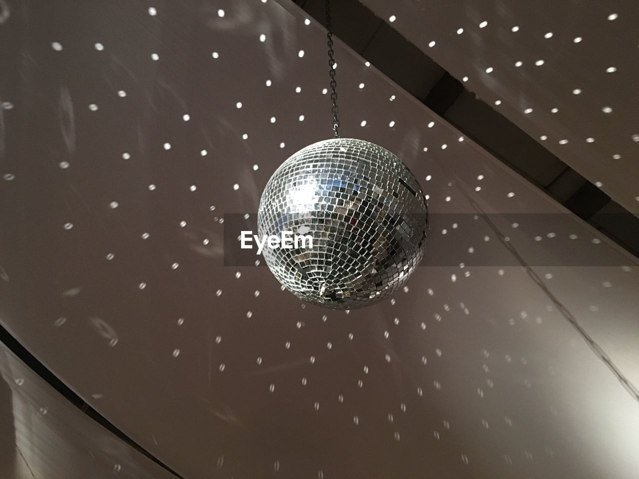 Low Angle View Of Disco Lights