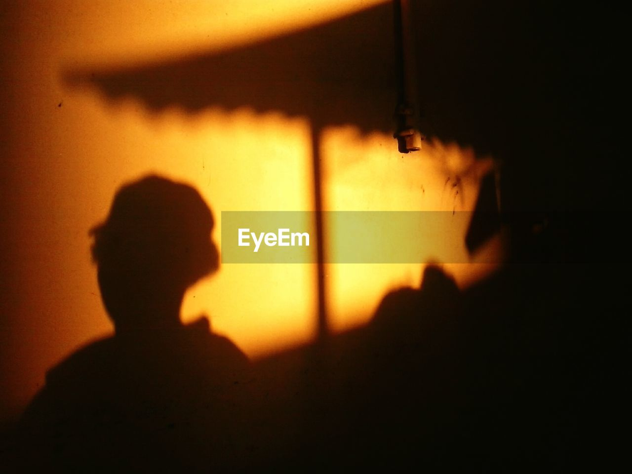 silhouette, orange color, yellow, indoors, shadow, one person, sunset, real people, night, close-up, people