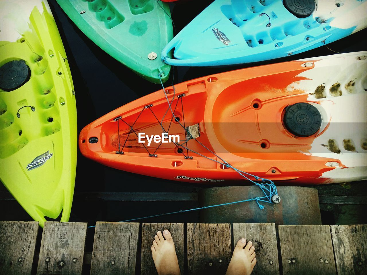 human leg, low section, day, outdoors, close-up, nautical vessel, one person