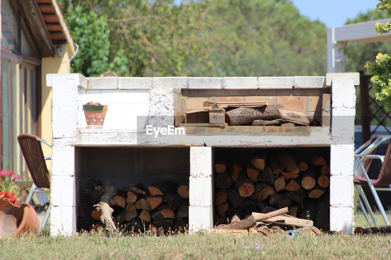 Firewood In Stone Structure