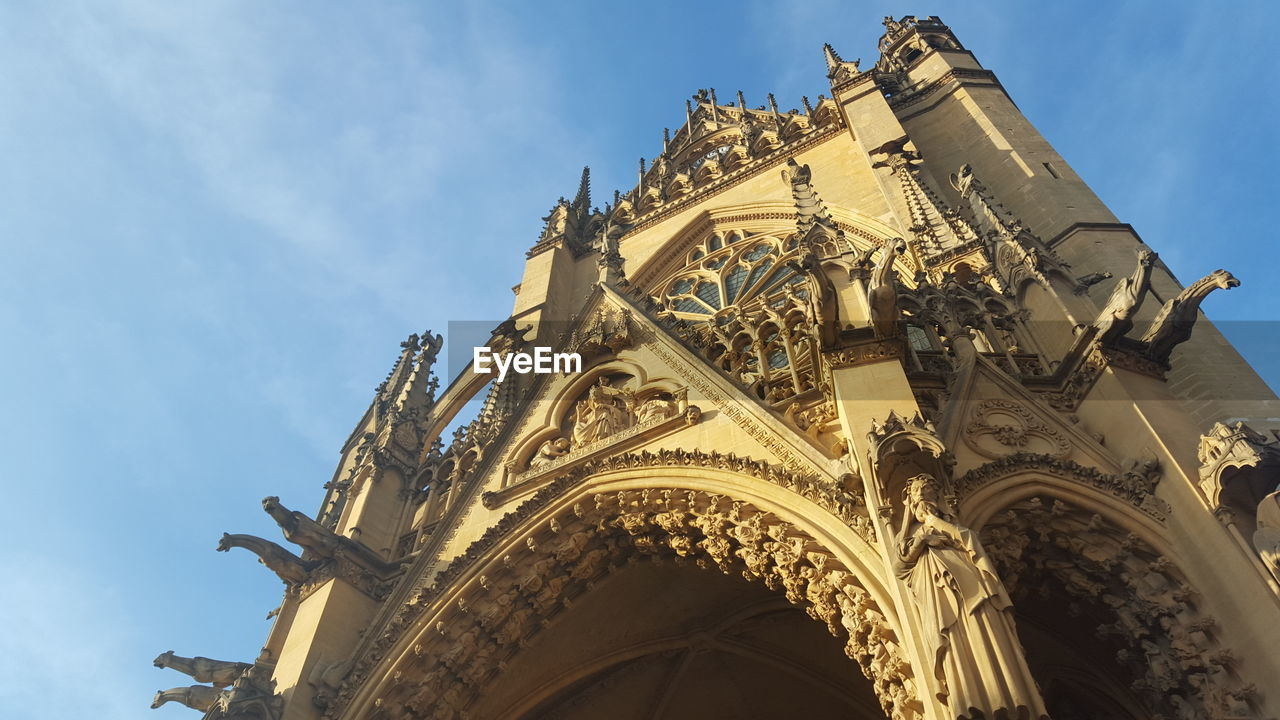Low Angle View Of Metz Cathedral Against Sky