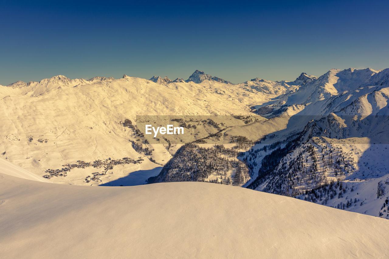 Saint veran et le mont viso, queyras, hautes alpes