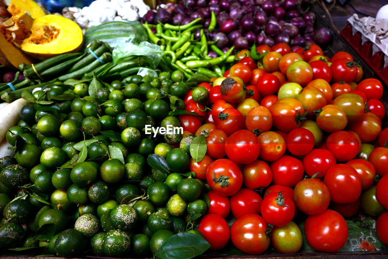 Close-up of fresh vegetables for sale in market