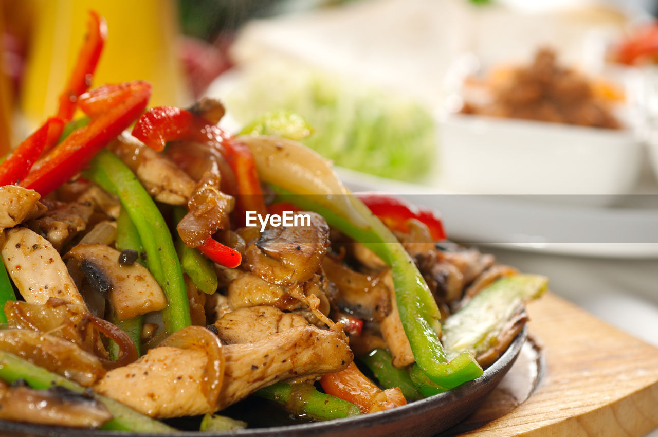 Chicken And Capsicum Dish On Table