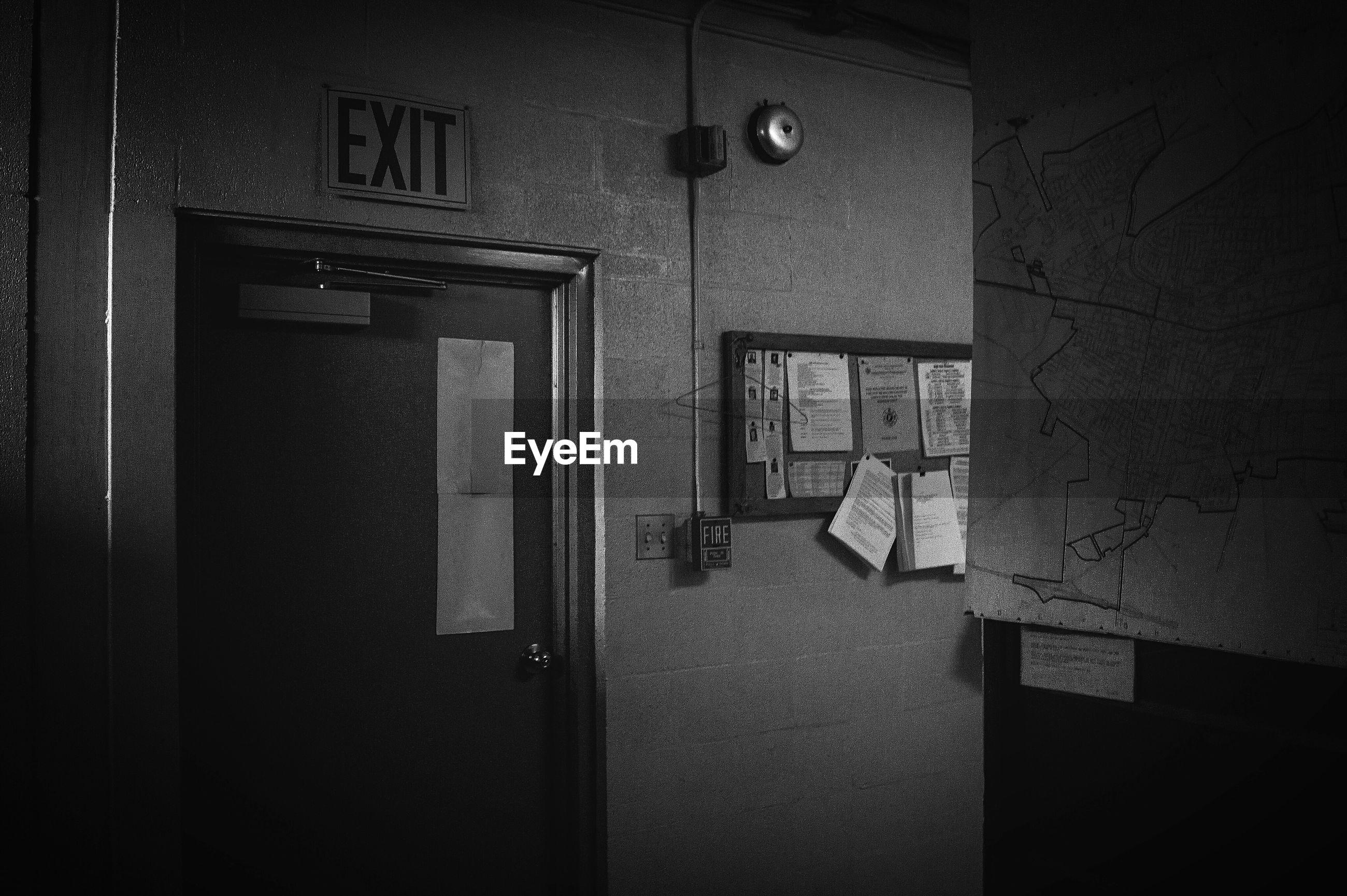 VIEW OF DOOR IN ROOM