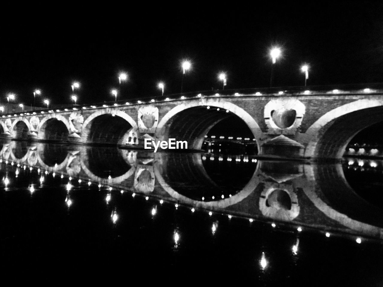 night, water, reflection, bridge - man made structure, illuminated, architecture, outdoors, no people, sky, close-up