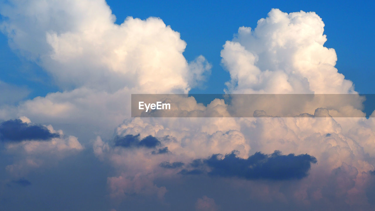 cloud - sky, sky, beauty in nature, scenics - nature, tranquility, low angle view, no people, tranquil scene, nature, backgrounds, idyllic, outdoors, day, cloudscape, full frame, white color, blue, softness, non-urban scene, meteorology