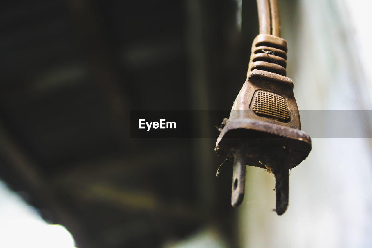 Close-Up Of Old Plug