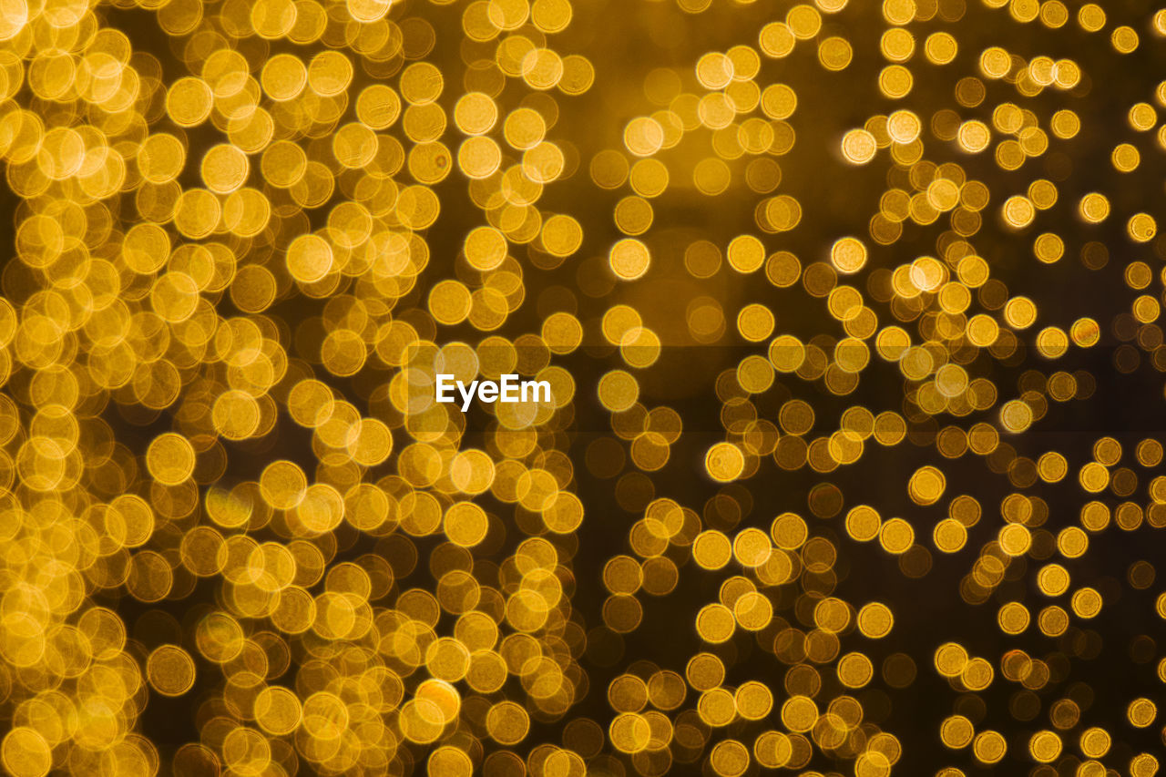 Defocused Image Of Yellow Lights