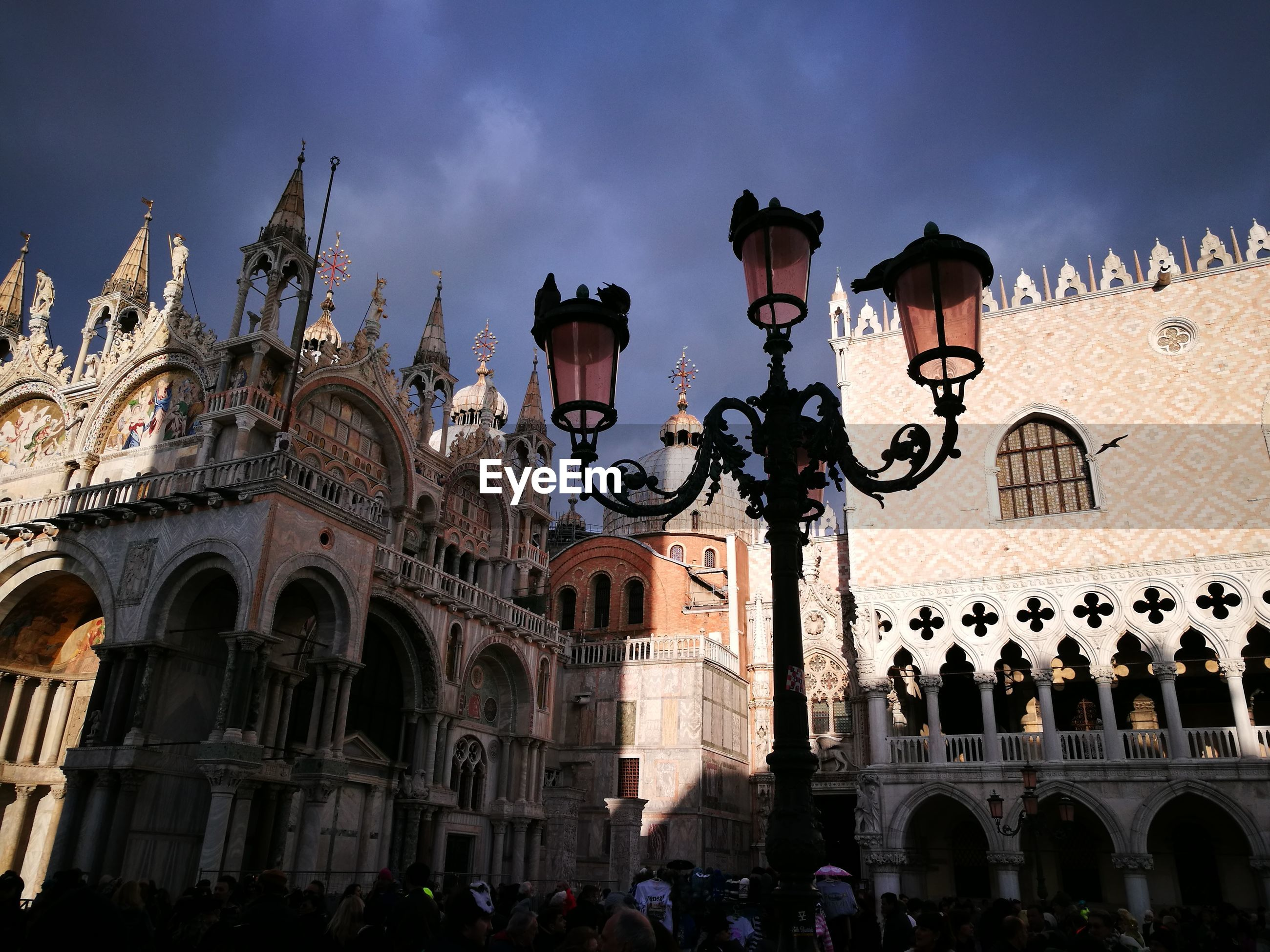 Low angle view of doge palace against sky