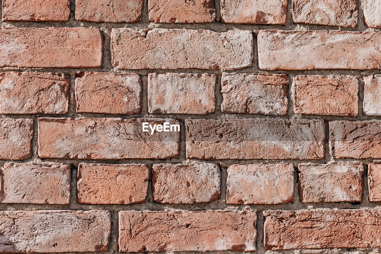backgrounds, textured, brick wall, brick, full frame, wall, wall - building feature, architecture, pattern, built structure, no people, weathered, rough, old, red, construction material, brown, close-up, outdoors, rectangle, cement, concrete, ruined