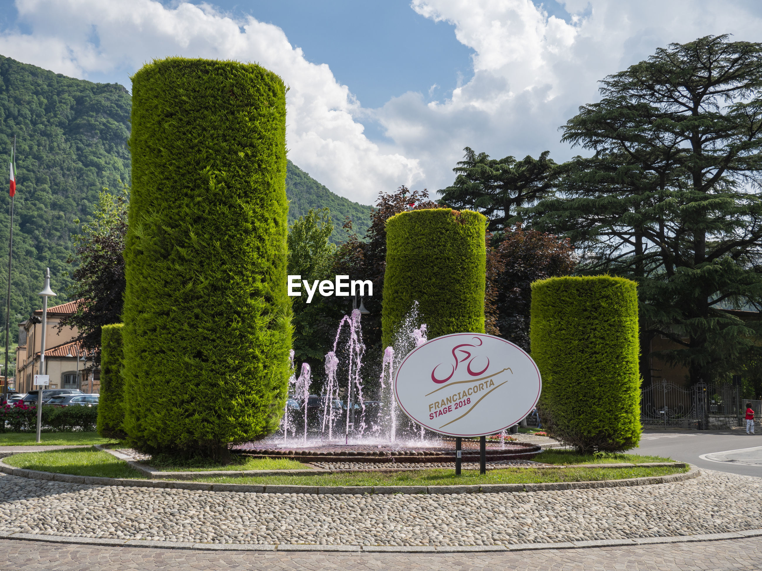 VIEW OF ROAD SIGN IN PARK