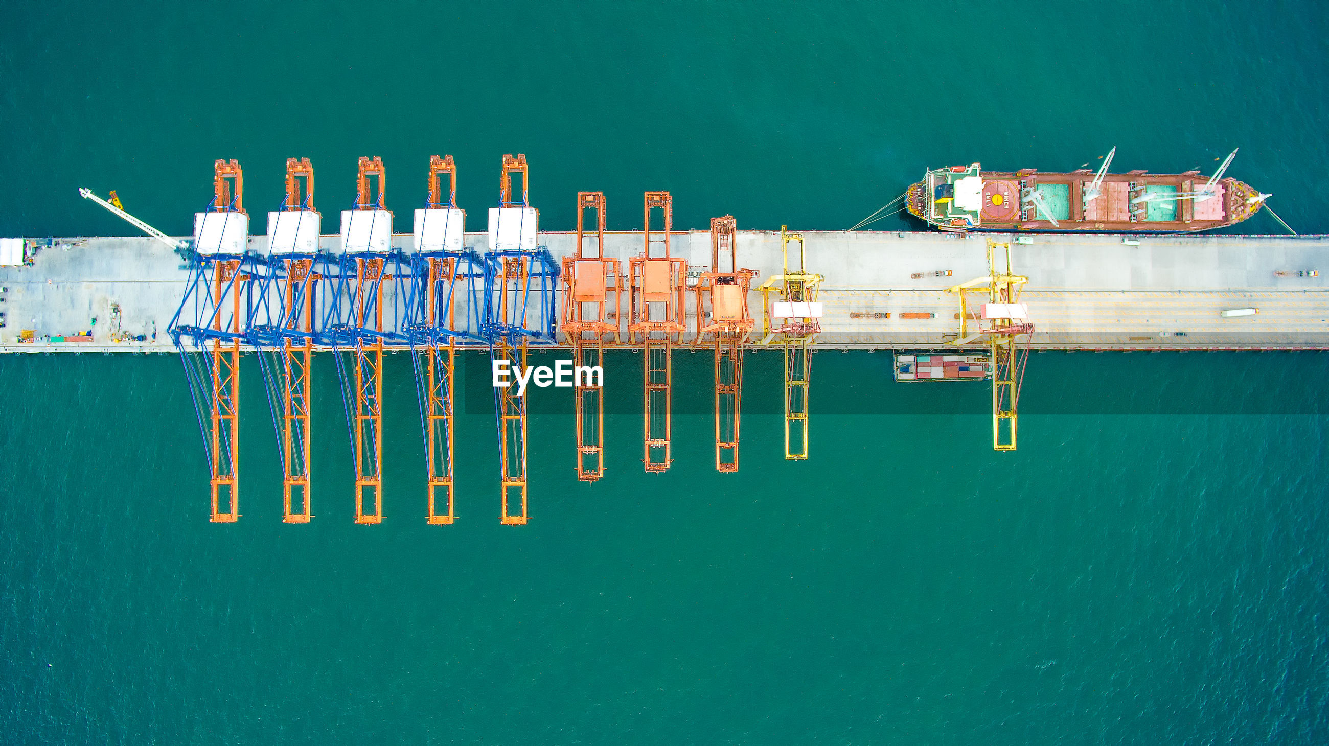 Aerial view of commercial dock