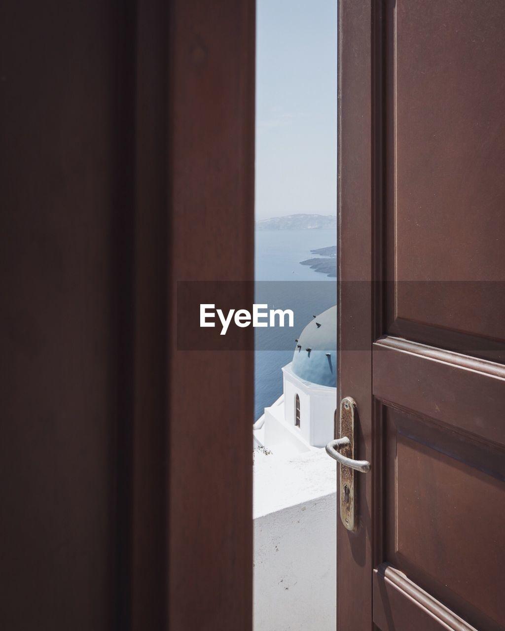 Sea Seen Through Doorway