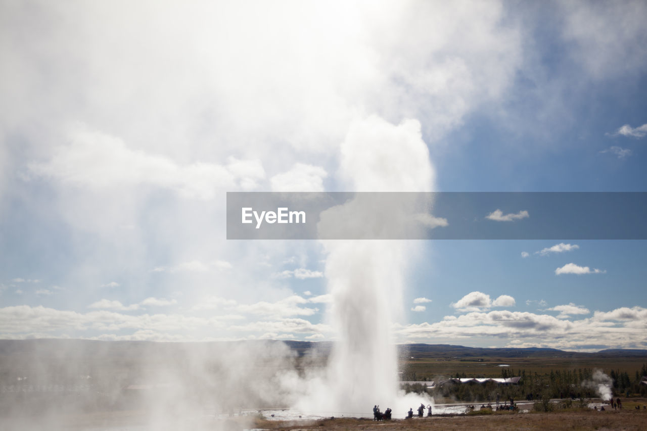 View of geyser