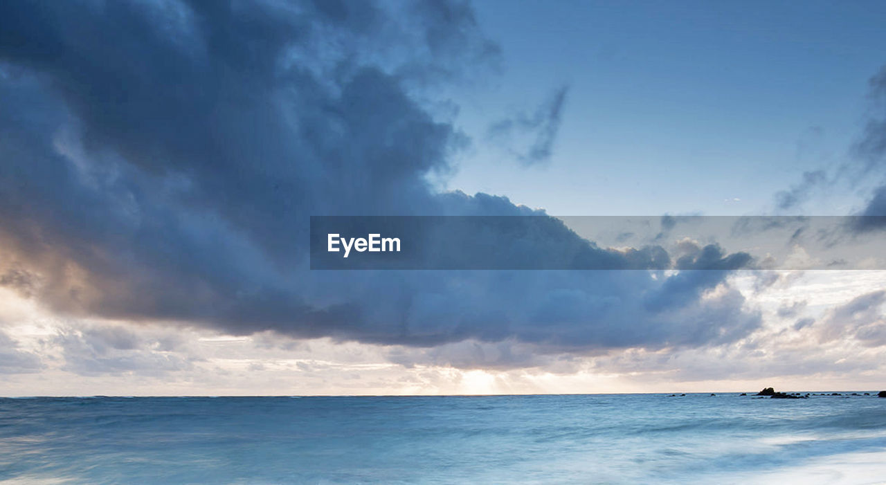 sea, sky, water, cloud - sky, scenics - nature, beauty in nature, horizon, horizon over water, tranquility, tranquil scene, nature, no people, storm, outdoors, dramatic sky, panoramic, blue, day