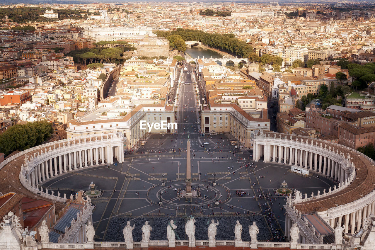 Aerial View Of St Peters Square And Cityscape