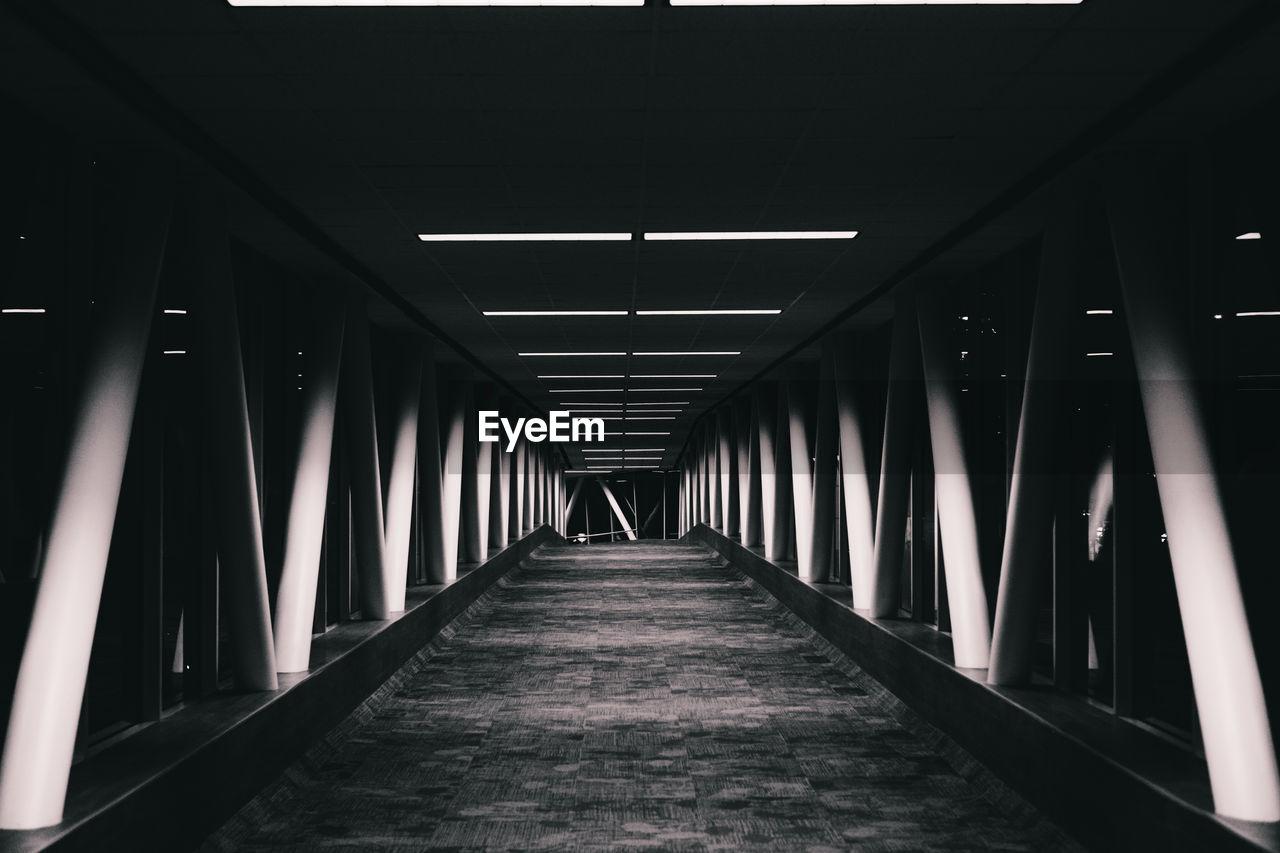 View Of Empty Bridge At Night