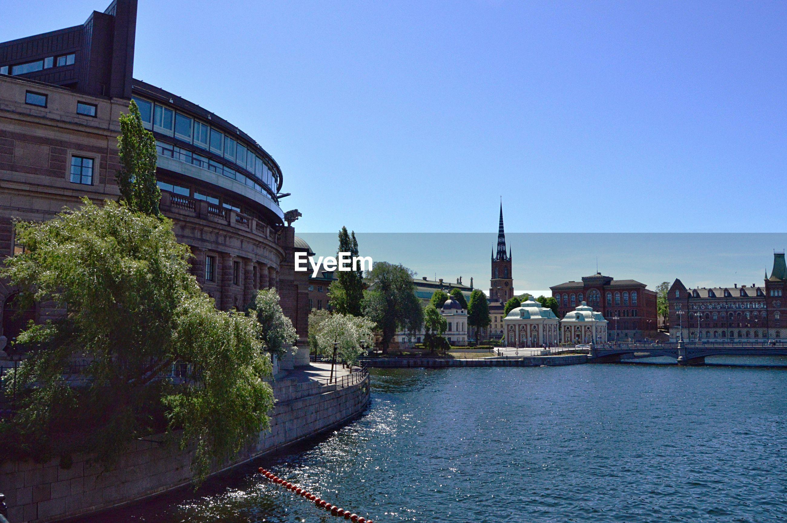 Stockholm and swedish parliament