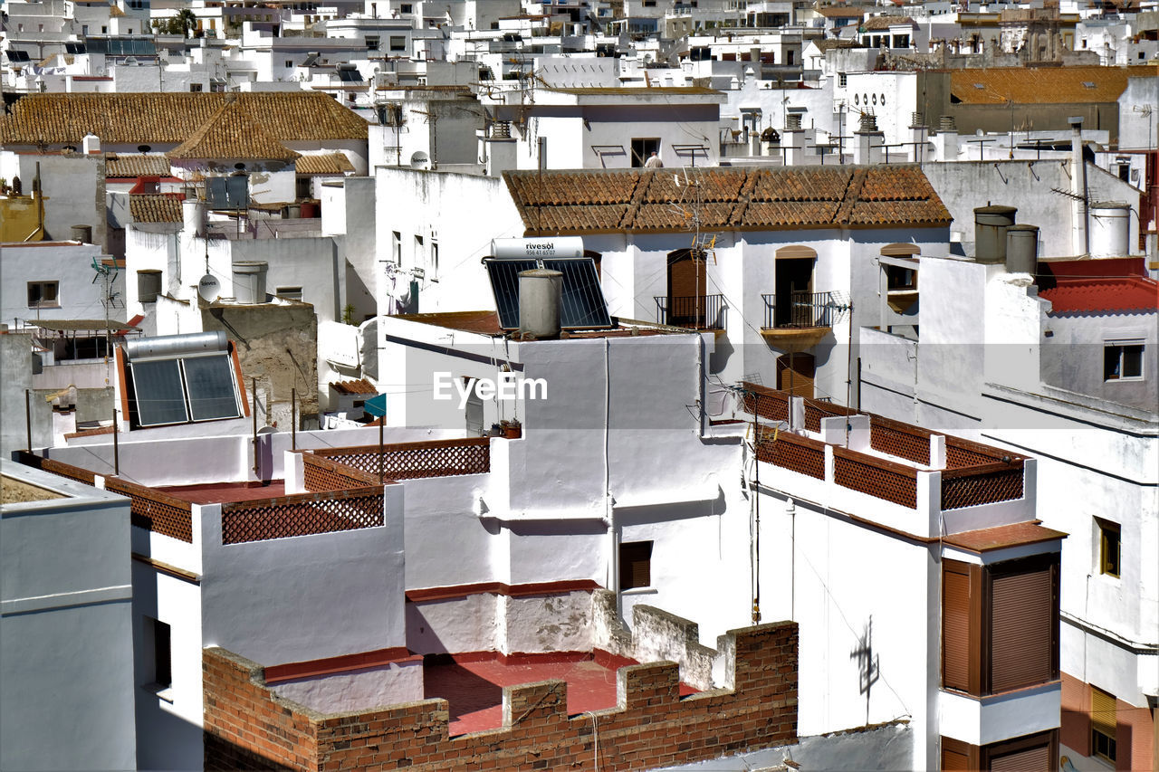High Angle View Of Houses In Spain