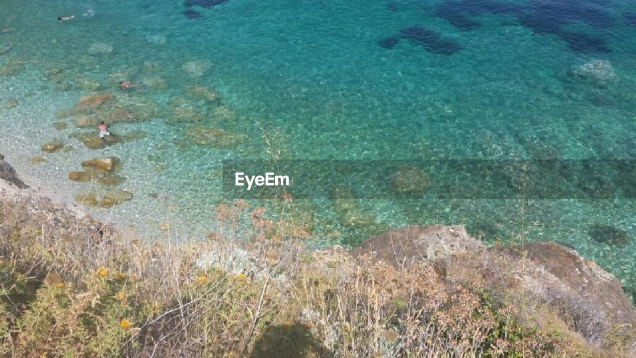 high angle view, sea, nature, water, day, outdoors, beauty in nature, scenics, landscape, no people, beach, undersea