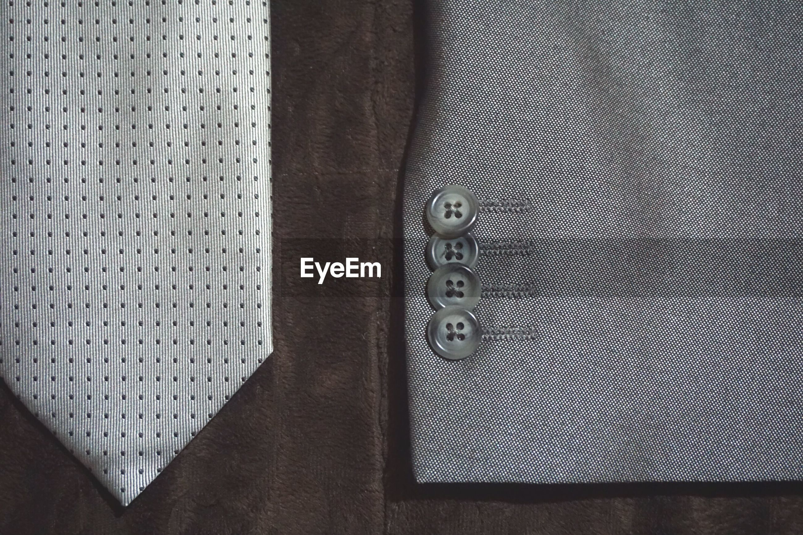Close-up of suit and necktie