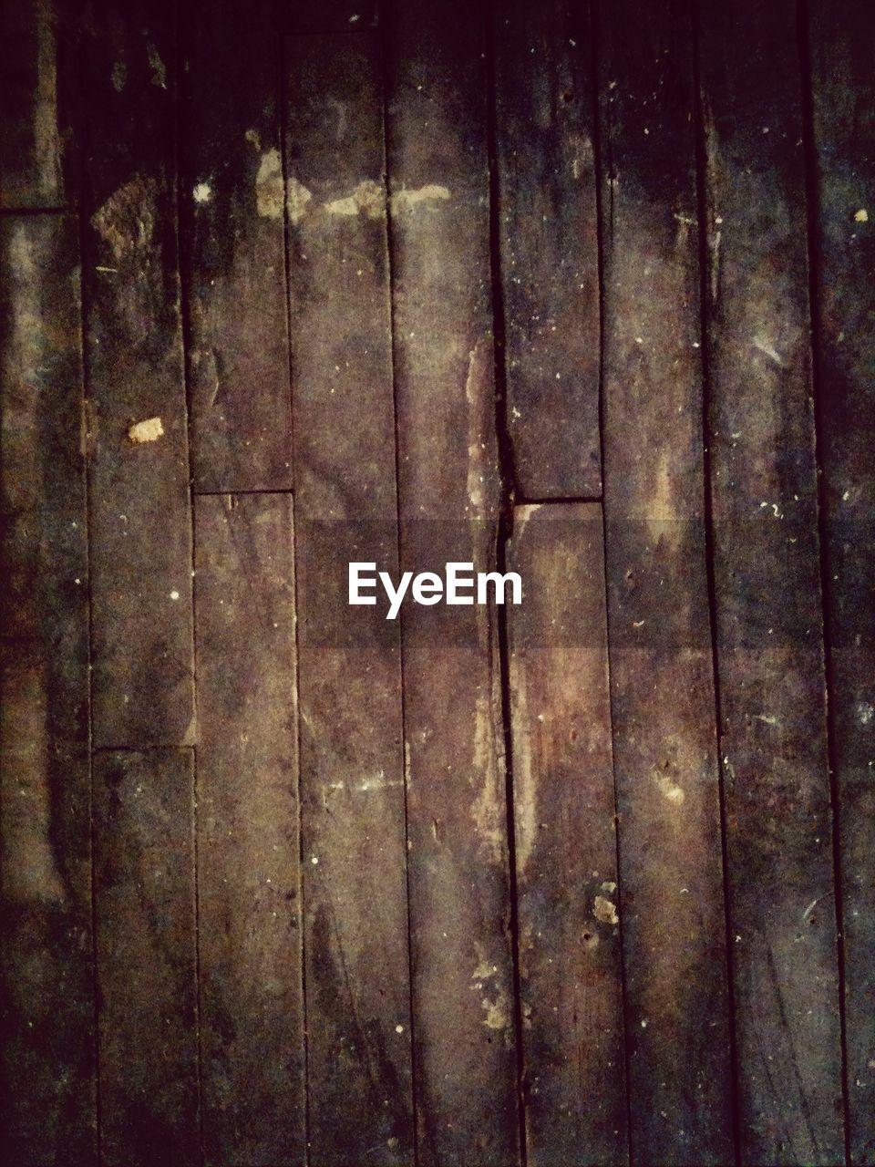 Full frame of old wooden floor