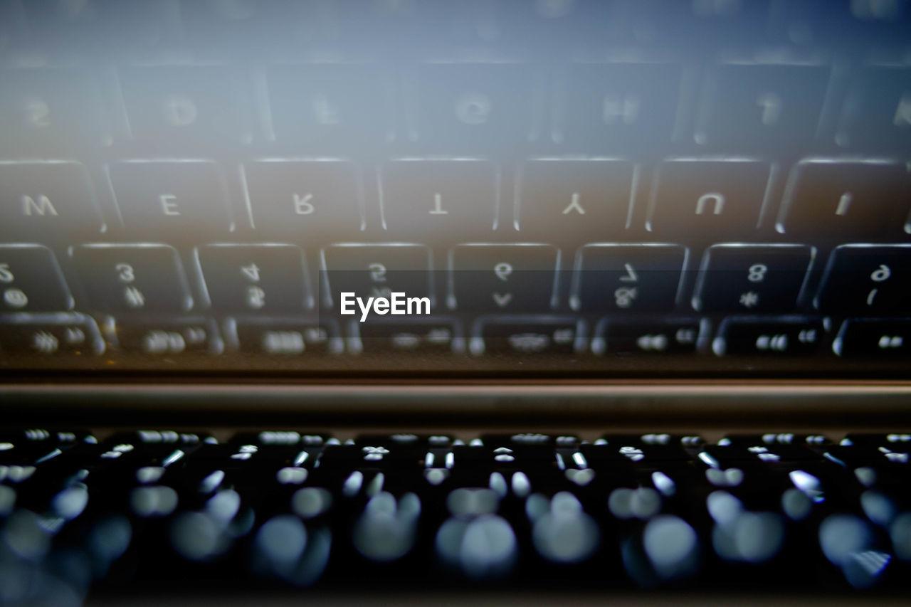 Close-up of computer keyboard