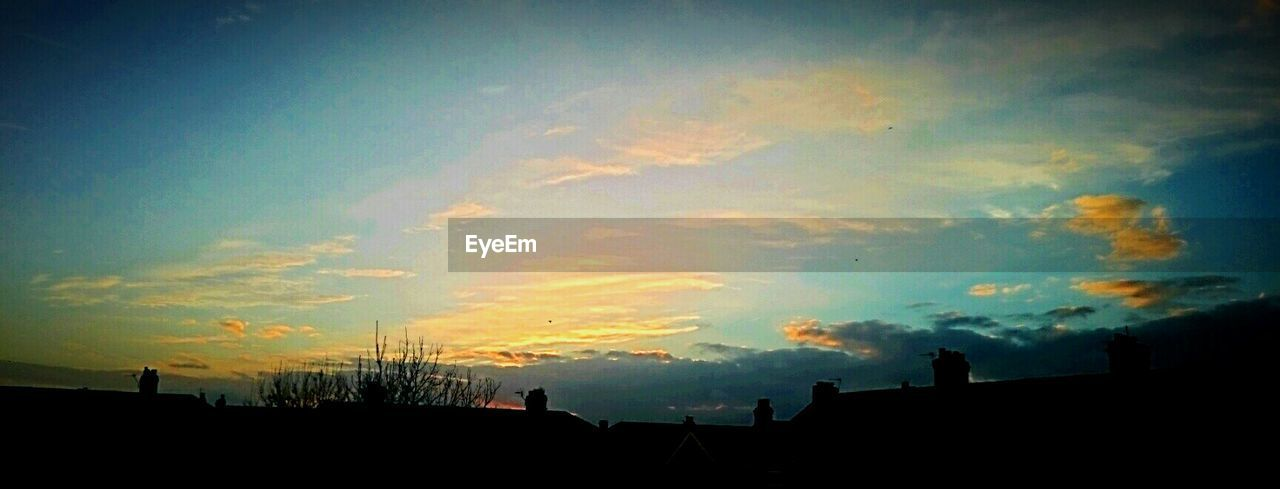 silhouette, sunset, sky, cloud - sky, architecture, nature, beauty in nature, no people, built structure, outdoors, building exterior, day