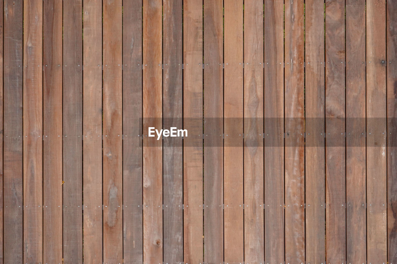 backgrounds, wood - material, full frame, textured, pattern, wood, wood grain, no people, brown, flooring, repetition, day, plank, side by side, built structure, in a row, striped, architecture, wall - building feature, close-up, outdoors, abstract, wood paneling, textured effect, parquet floor