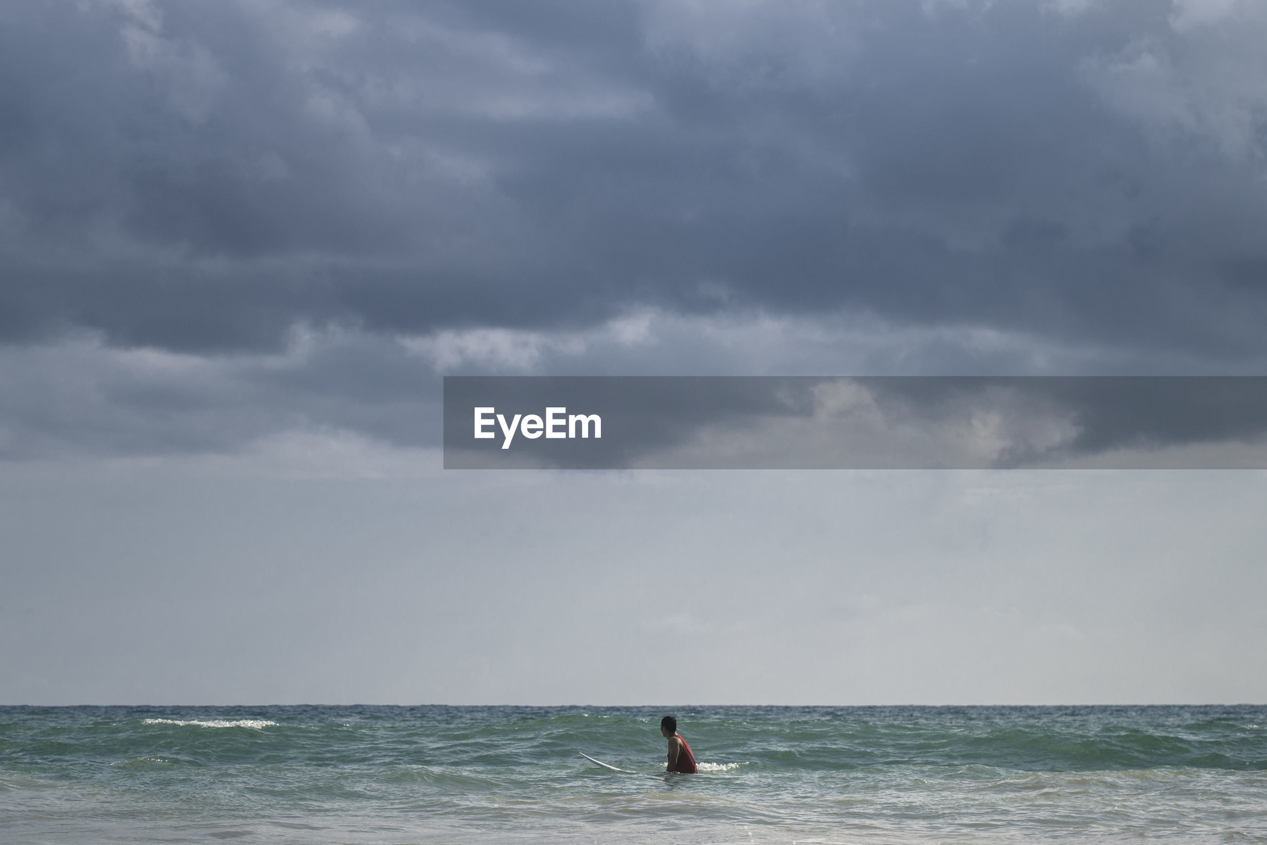 Man in sea