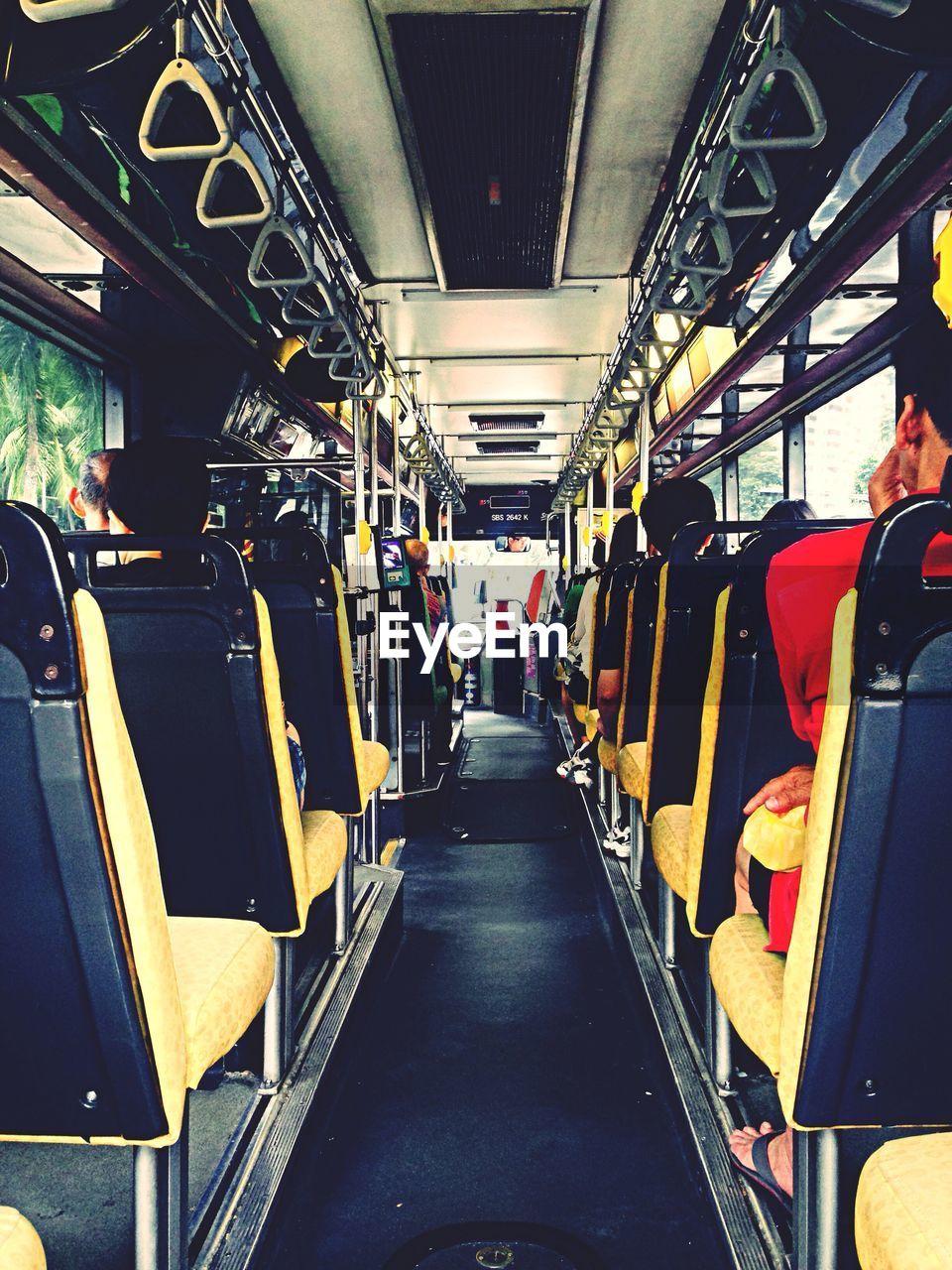 People Sitting In Bus