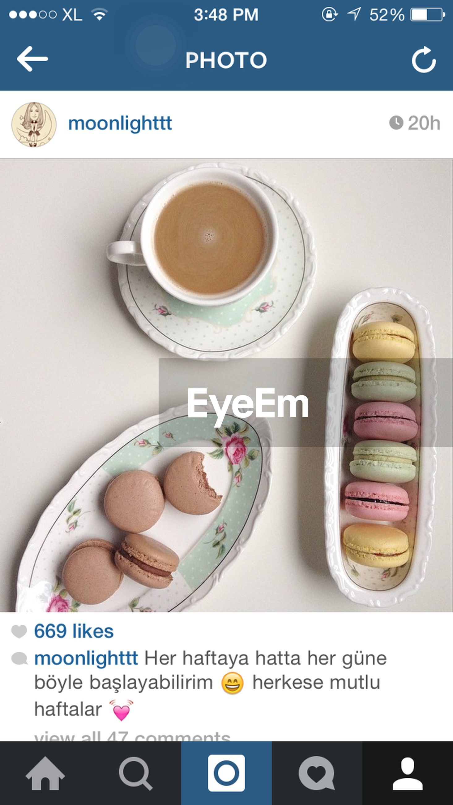 indoors, text, western script, communication, food and drink, still life, close-up, number, freshness, table, food, sweet food, capital letter, no people, high angle view, refreshment, coffee cup, non-western script, variation, unhealthy eating