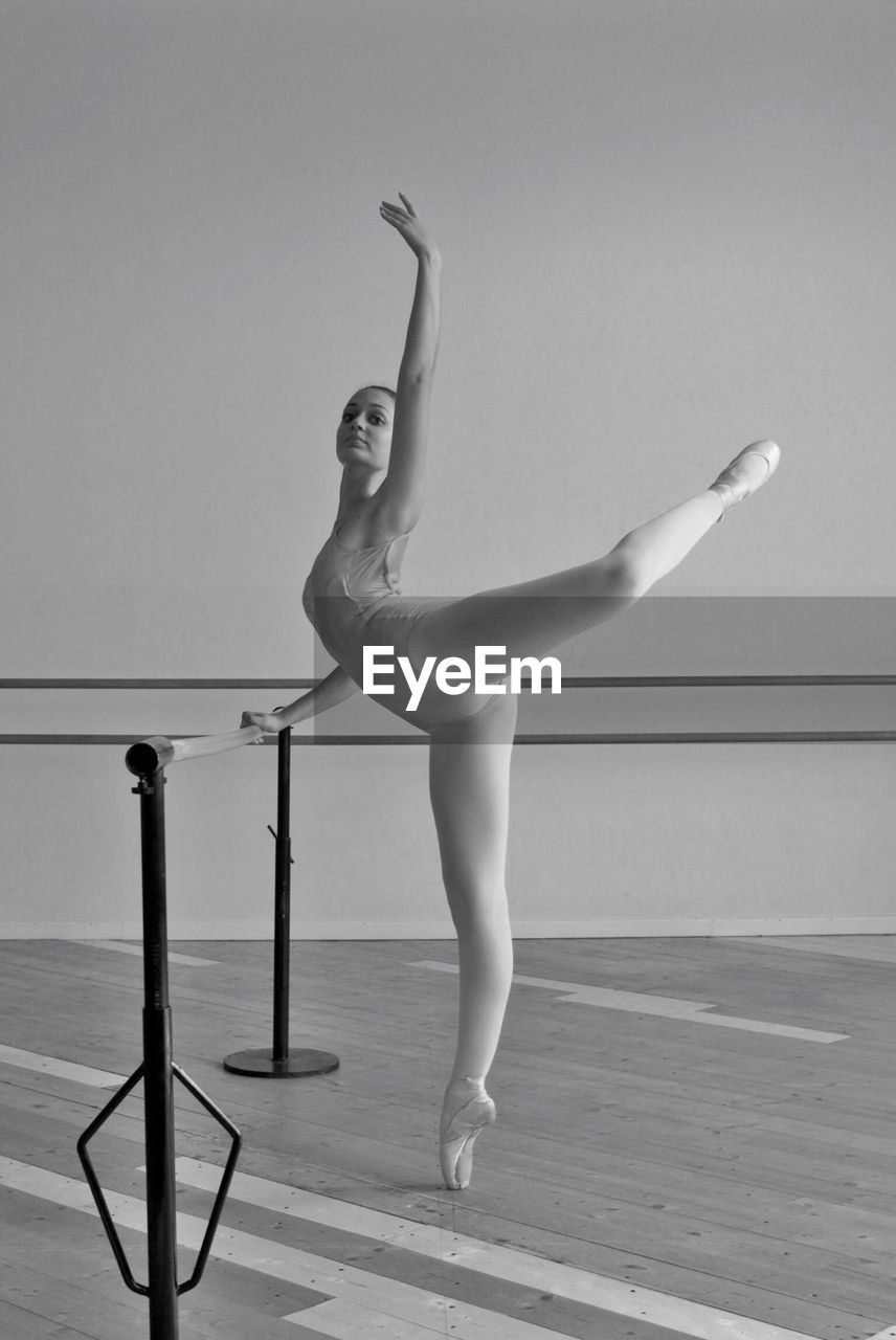 Full Length Of Young Woman In Dance Studio