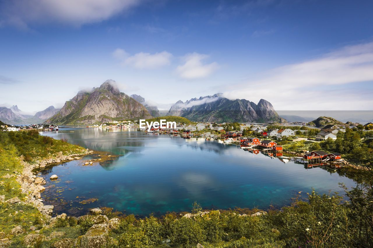 The Heaven Lofoten Norway Norway Fjords Reflection No People Outdoors Tranquility Beauty In Nature Mountain Travel Destinations
